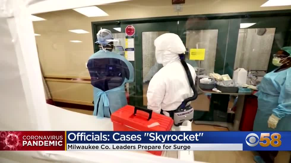 COVID-19 hospitalizations in the state are skyrocketing and Milwaukee...