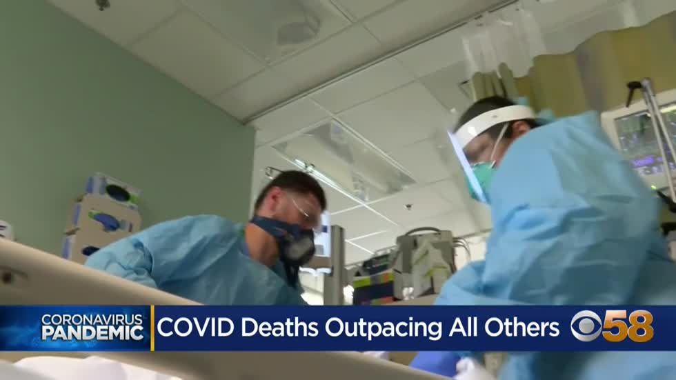 Data show COVID-19 is now the leading cause of death in the U.S.