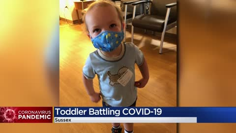 Family of toddler battling COVID-19 hopes to raise awareness...