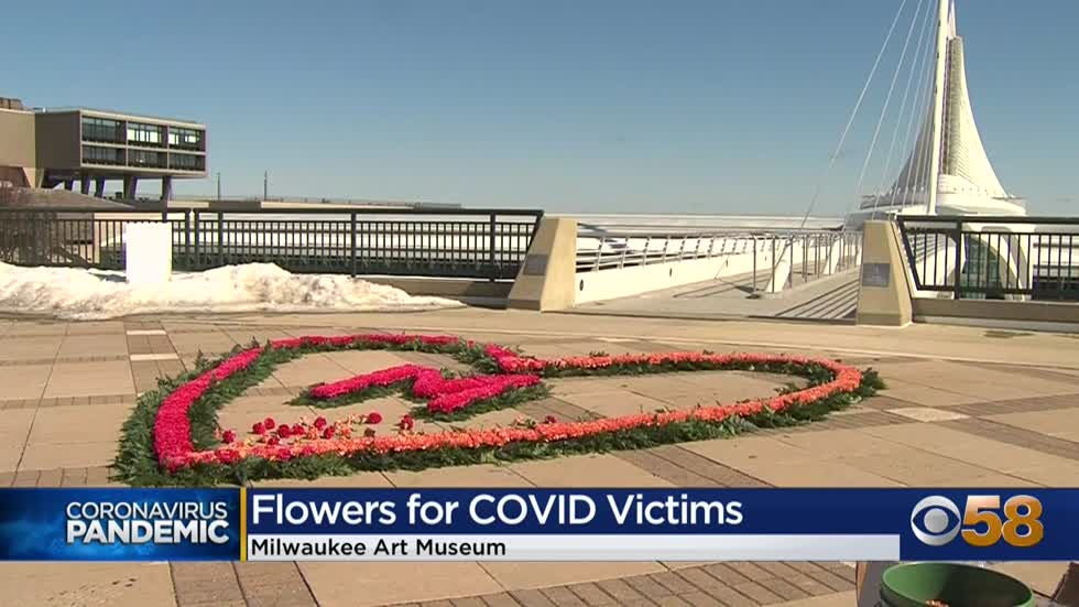 Floral Heart Project honors lives lost to COVID in Milwaukee
