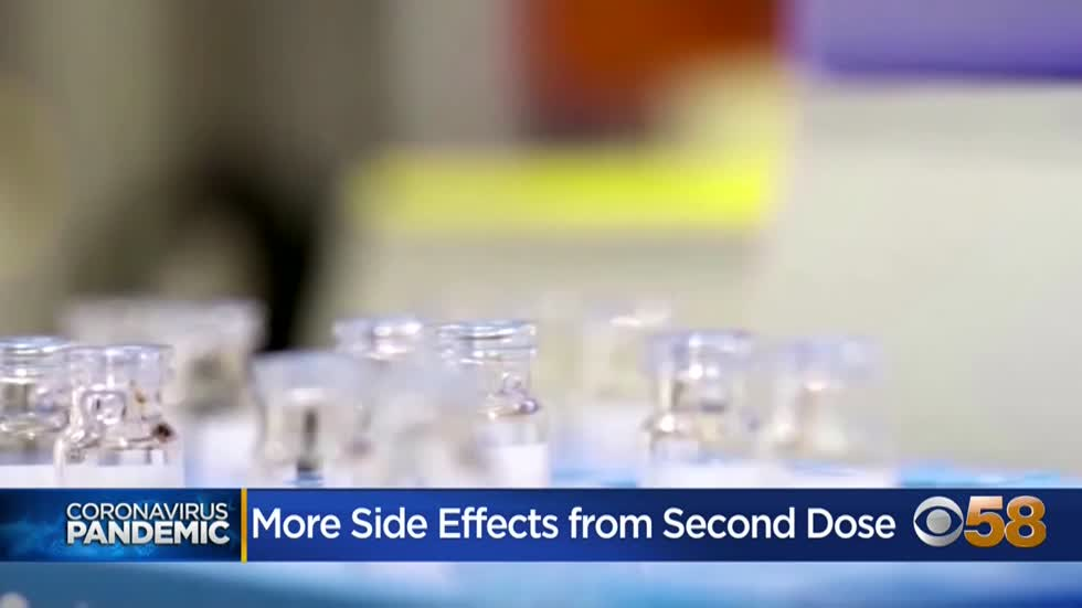 Doctors say side effects more likely following second dose of COVID-19 vaccine