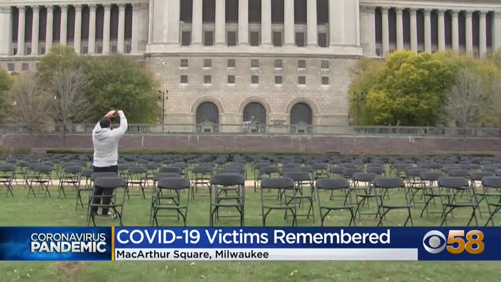 Nearly 600 chairs set up in Milwaukee to remember lives lost...