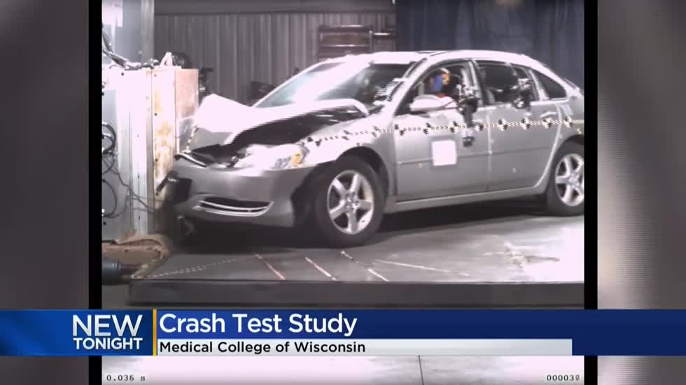 Medical College of Wisconsin releases video from inside crash test lab