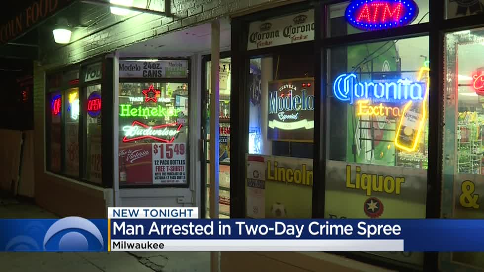 Milwaukee man facing multiple charges for crime spree involving five victims