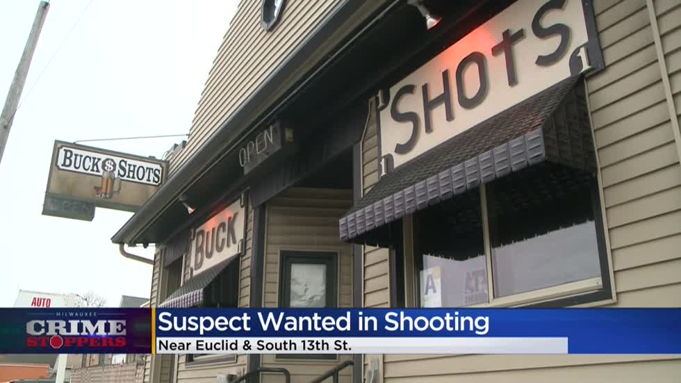Crime Stoppers Crime of the Week: Suspect wanted for shooting man outside Buckshots bar