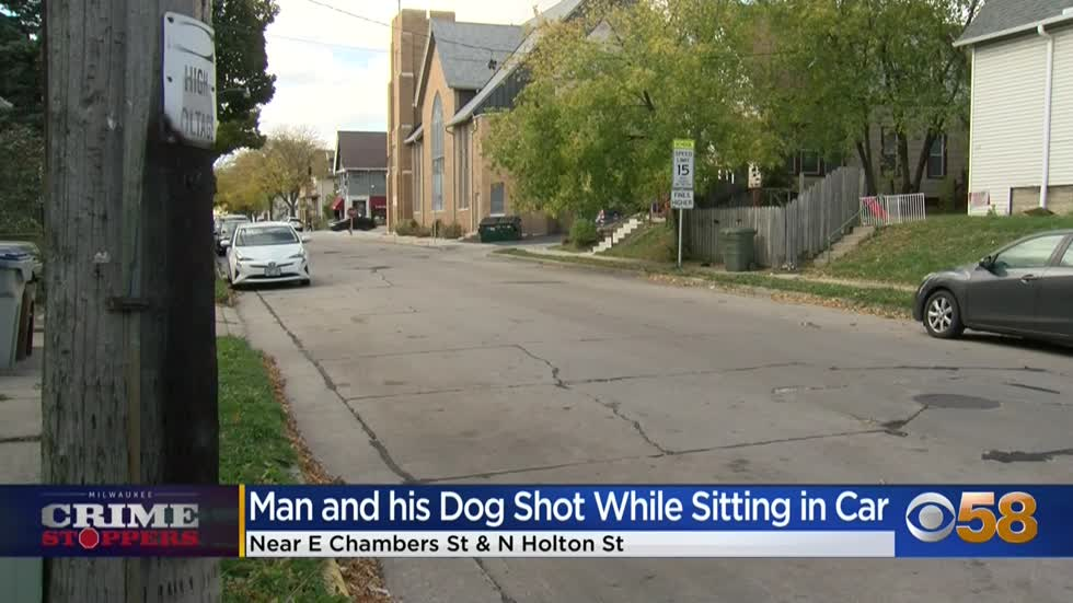 Crime Stoppers Crime of the Week: Man and his dog shot while sitting in car near 5th and Chambers