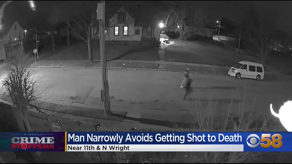 Crime Stoppers Crime of the Week: Milwaukee man shot at by strangers outside his own home