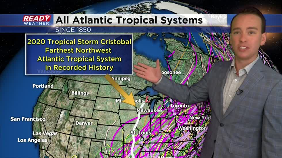 Recapping flooding Wednesday rain and historic Tropical Storm Cristobal