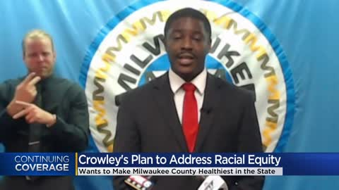 Milwaukee County Executive David Crowley announces strategies...