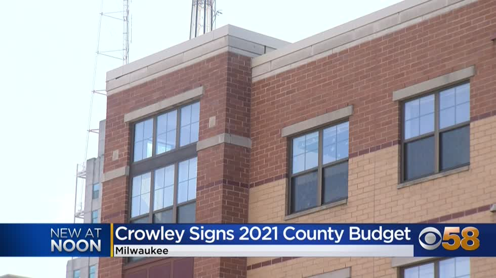 Milwaukee County Executive David Crowley signs 2021 budget