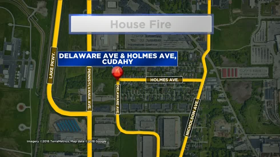 Woman, dog safe after Cudahy house fire