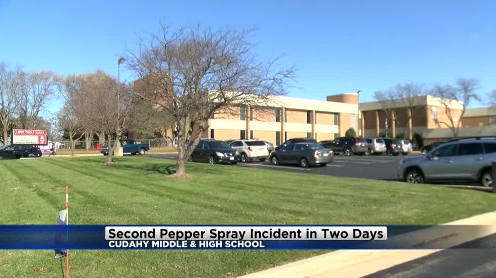 Pepper spray incident cancels classes at Cudahy Middle School, second incident for district in two days
