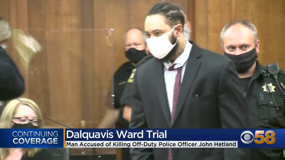 Prosecutors present evidence tying Dalquavis Ward to fatal shooting of Officer Hetland