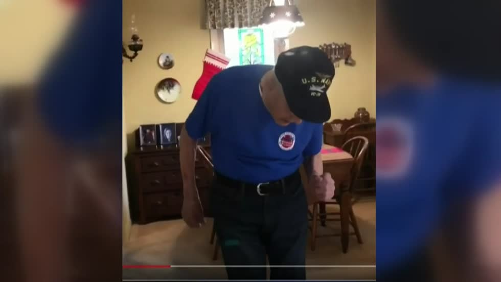Local World War II veteran once again dances his way through the holidays