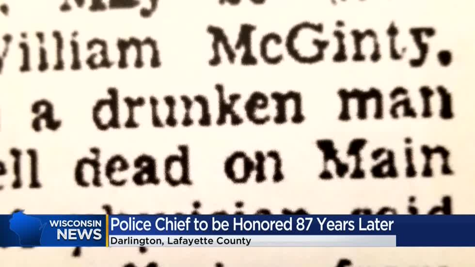 Darlington police chief who died in the line of duty will be honored 87 years later