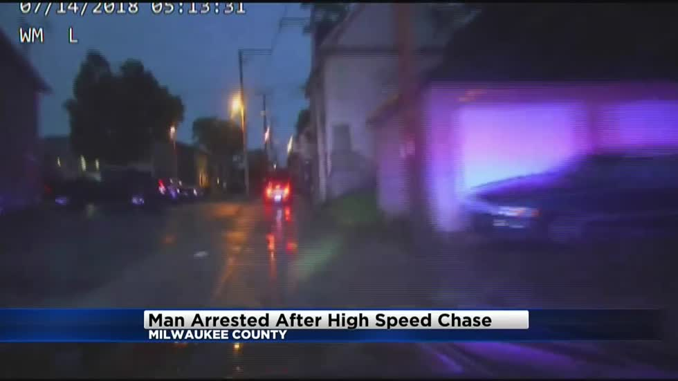 Caught on dash cam: Man arrested after high speed chase through Wauwatosa, Milwaukee