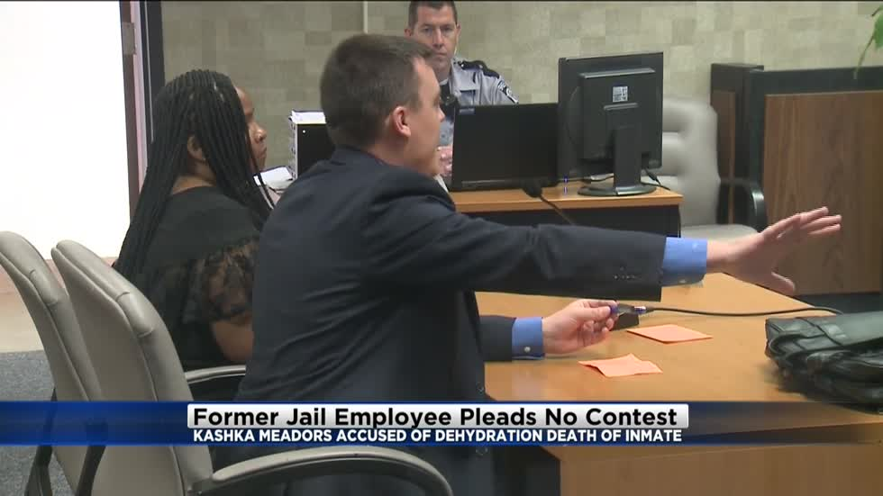 Former jail employee pleads 'no contest' in connection with dehydration death of Terrill Thomas