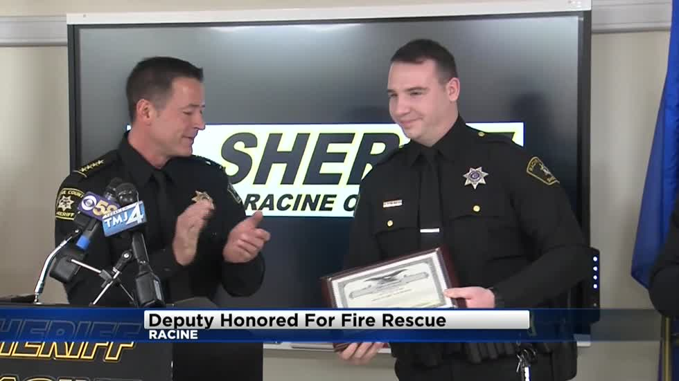 Racine County Deputy honored for saving man trapped in burning home
