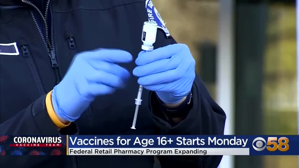 Vaccine supply expands to nearly 600 pharmacy locations in WI as eligibility extends to those 16 and older April 5