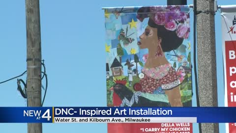 'It's really empowering:' DNC-inspired art installation...