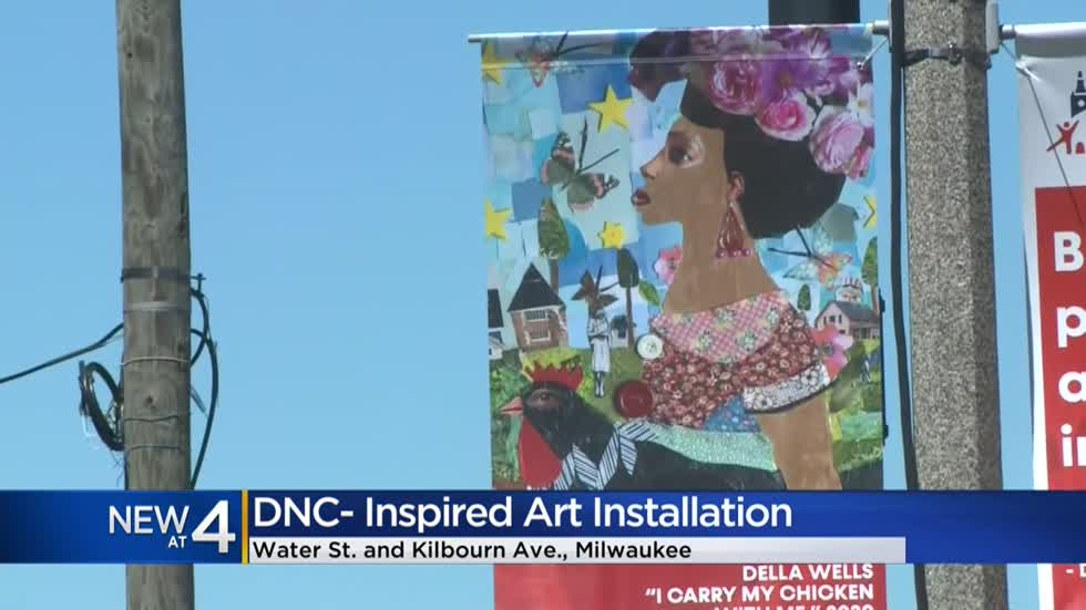 'It's really empowering:' DNC-inspired art installation on display in downtown Milwaukee