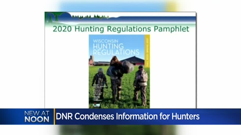 Wisconsin DNR condensing hunting information pamphlets for 2020