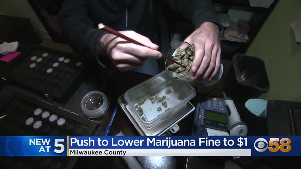 Milwaukee County Board of Supervisors proposes lowering marijuana possession fine to $1