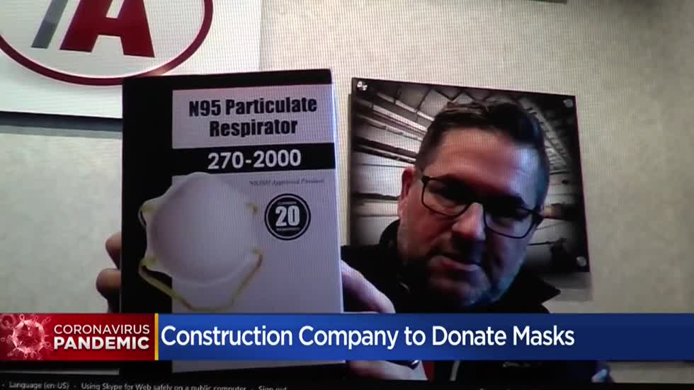 New Berlin construction company donates excess N-95 masks for local healthcare workers amid shortage