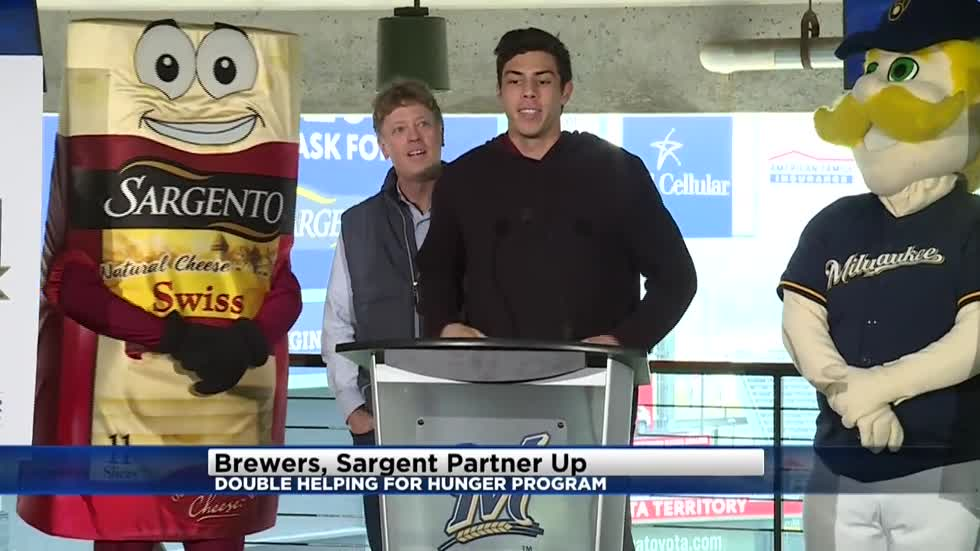 Brewers, Sargento team up for Double Helping for Hunger program