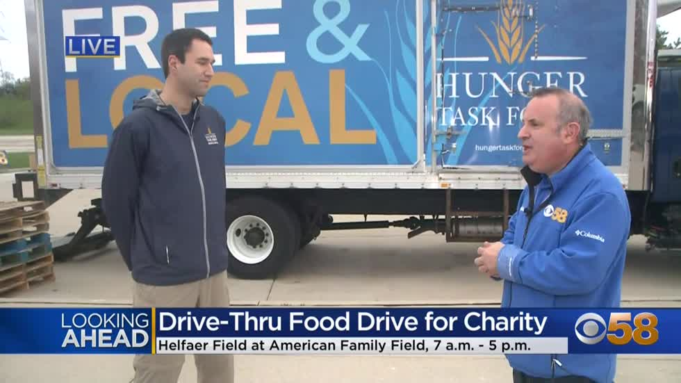 Brewers Community Foundation, Hunger Task Force and CBS 58 team up for Drive-Thru Food Drive May 4