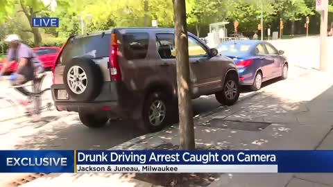 Drunk driver arrested, accused of smashing into parked vehicles on city's east side