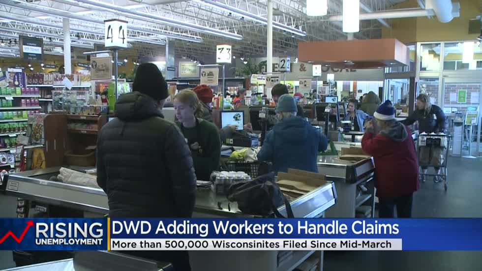 DWD brings on hundreds of additional workers to field unemployment claims