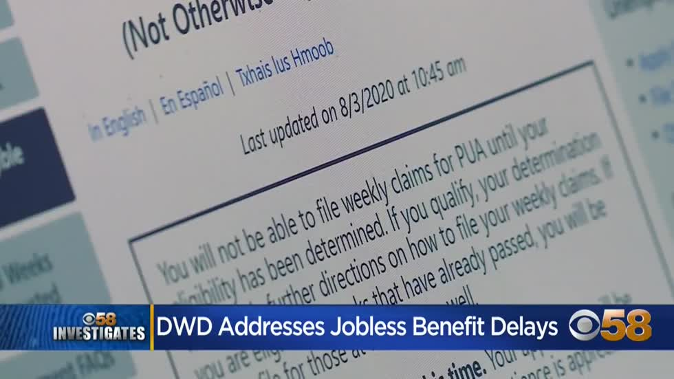 Department of Workforce Development: Unemployment backlog will...