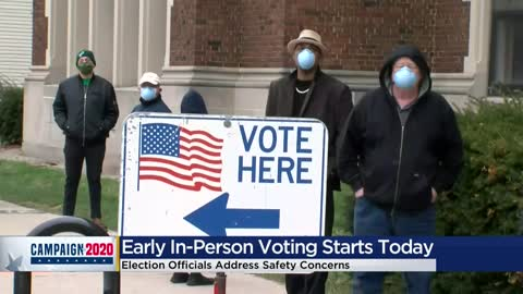 Early in-person voting begins in Milwaukee as next pandemic election approaches