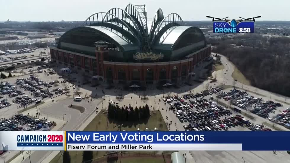 Fiserv Forum and Miller Park will be early voting centers