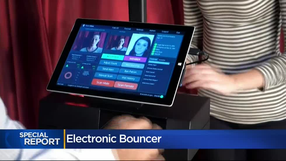 """Electronic bouncer:"" Bar and clubs use ID scanning systems to collect information and keep troublemakers out"