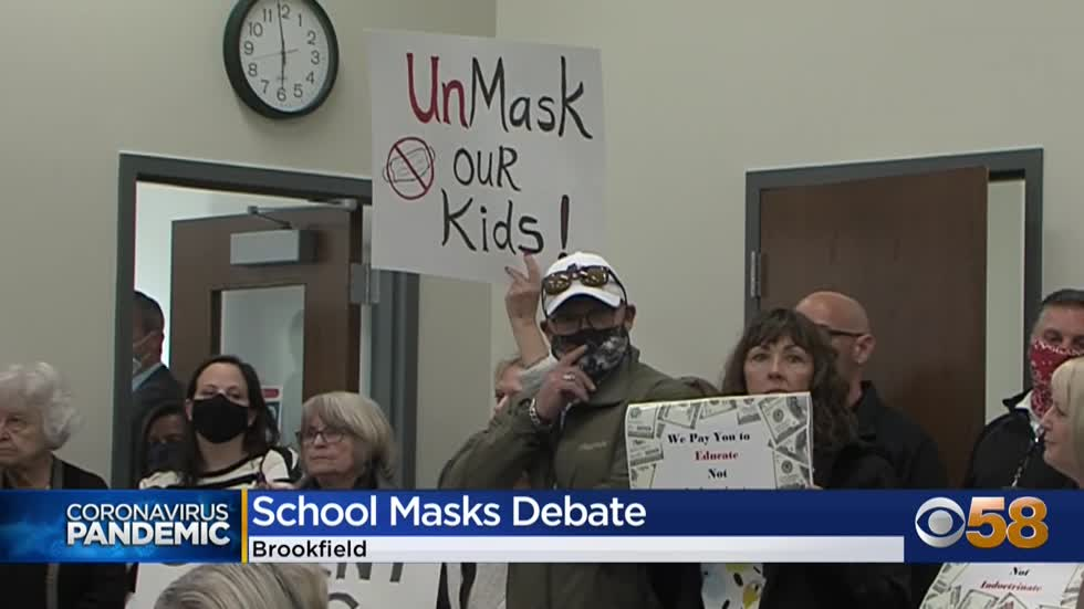 Parents demand optional mask policy at Elmbrook School Board...