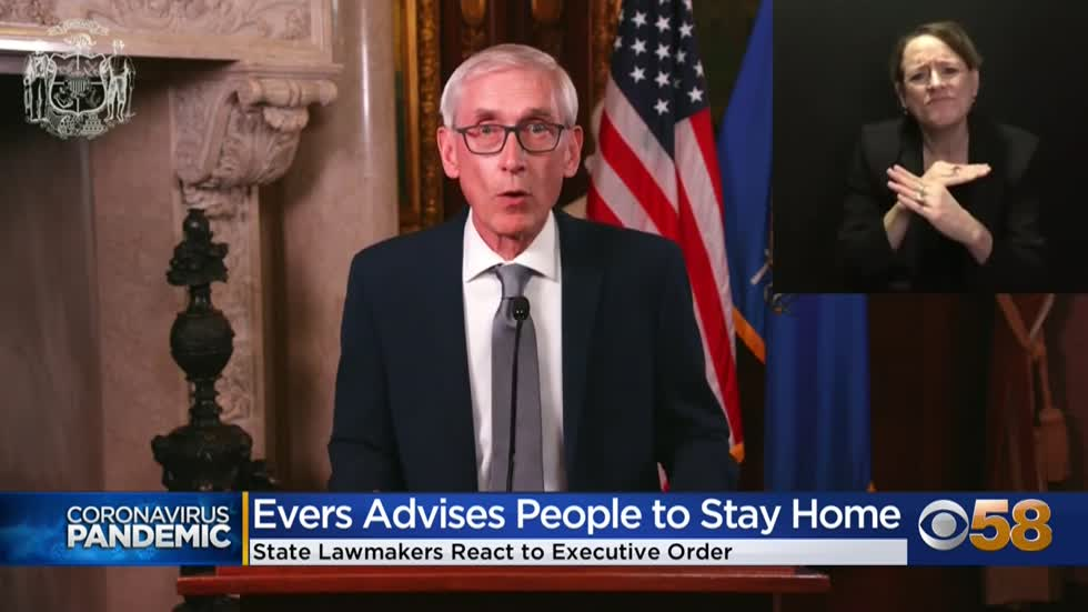 Gov. Evers aims to unify divided state government to fight COVID-19 crisis