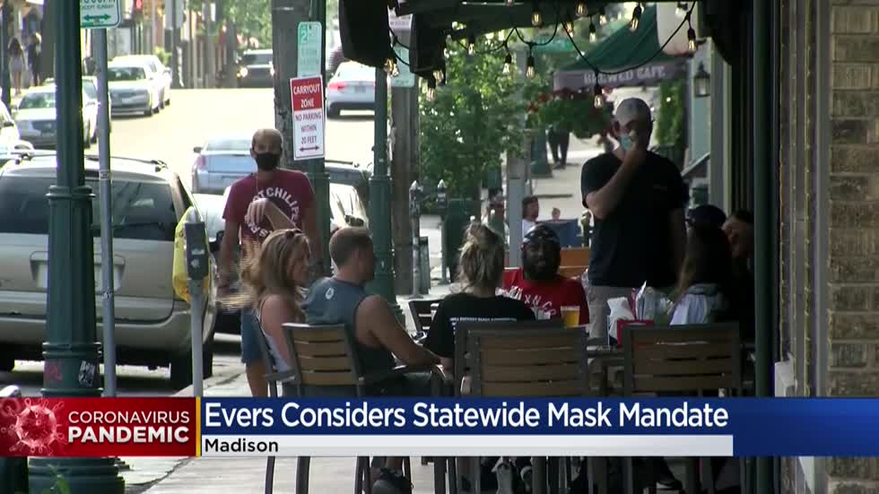 Recent COVID-19 surge prompts Gov. Evers to urge use of face coverings