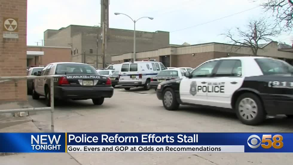 Evers blasts police reform task force