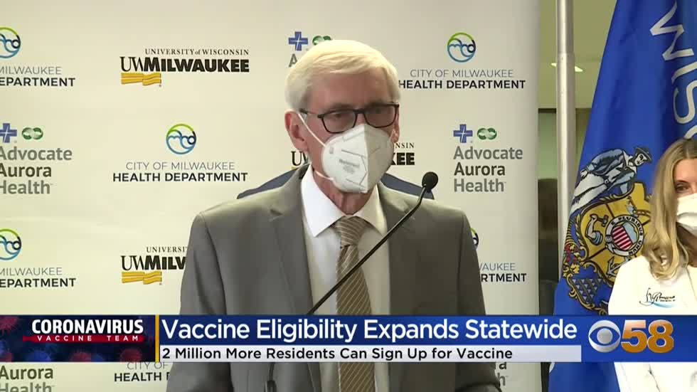Gov. Evers tours UW-Milwaukee COVID vaccine site, signs bill allowing dentists to administer shots