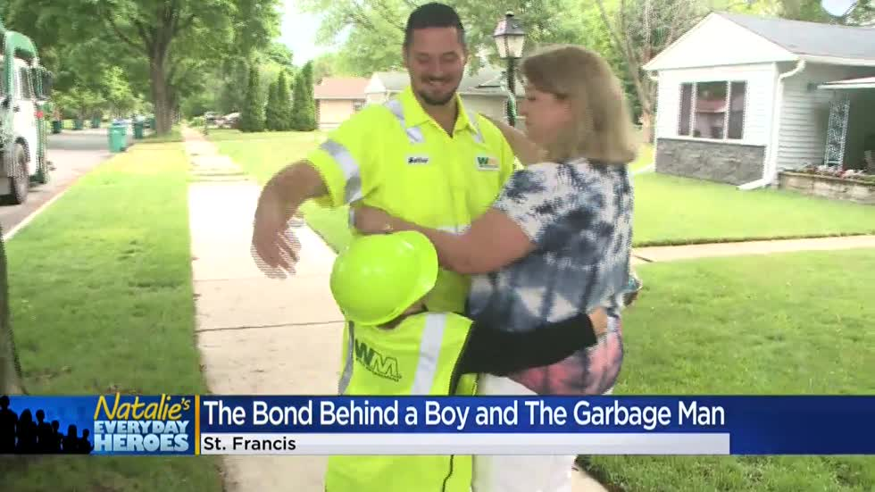 Natalie's Everyday Heroes: Beloved St. Francis garbage man, Matthew Lazarski, says goodbye to his route