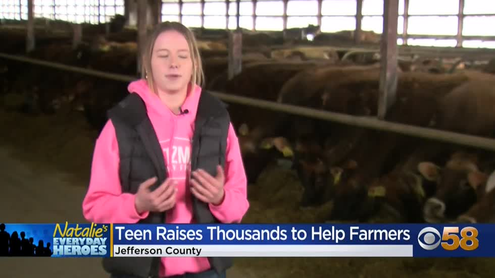 Natalie's Everyday Heroes: Jefferson County teen Elizabeth Katzman raises $10K to help local dairy farms