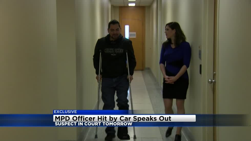 Exclusive: MPD officer injured in hit-and-run shares his story