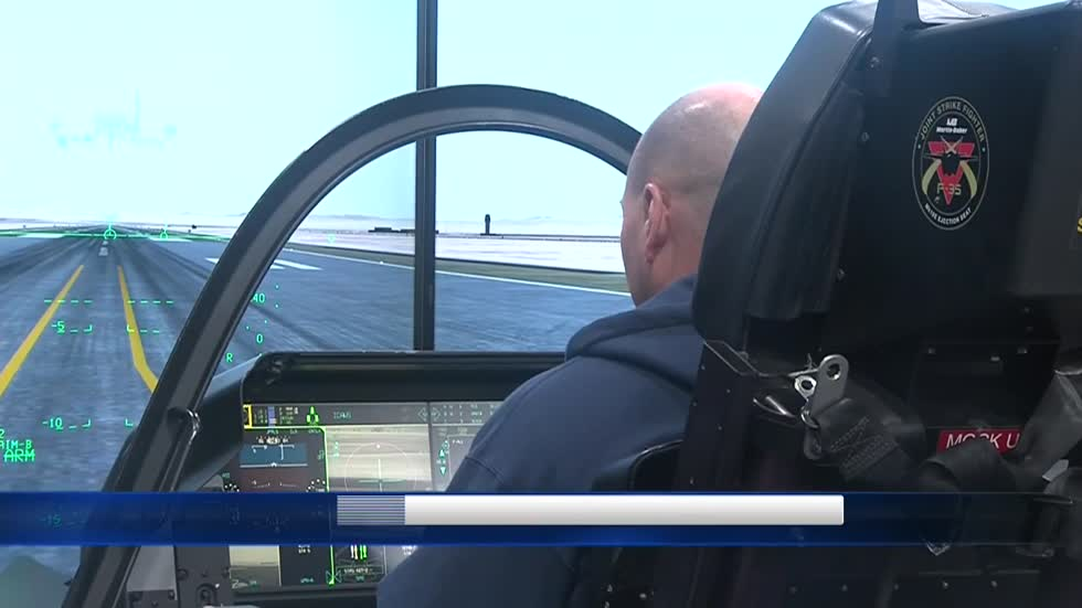 F-35 flight simulator offers rare experience for Milwaukee-based company