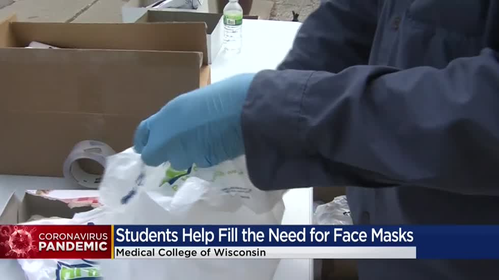 Area medical students make face coverings to distribute to underserved areas
