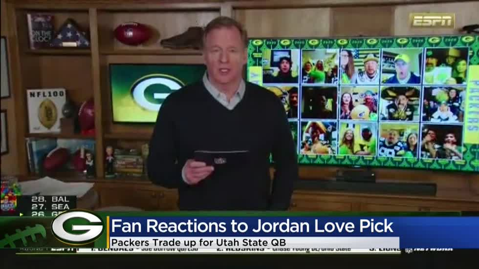 Fans react to Packers trading up, drafting QB Jordan Love in first round