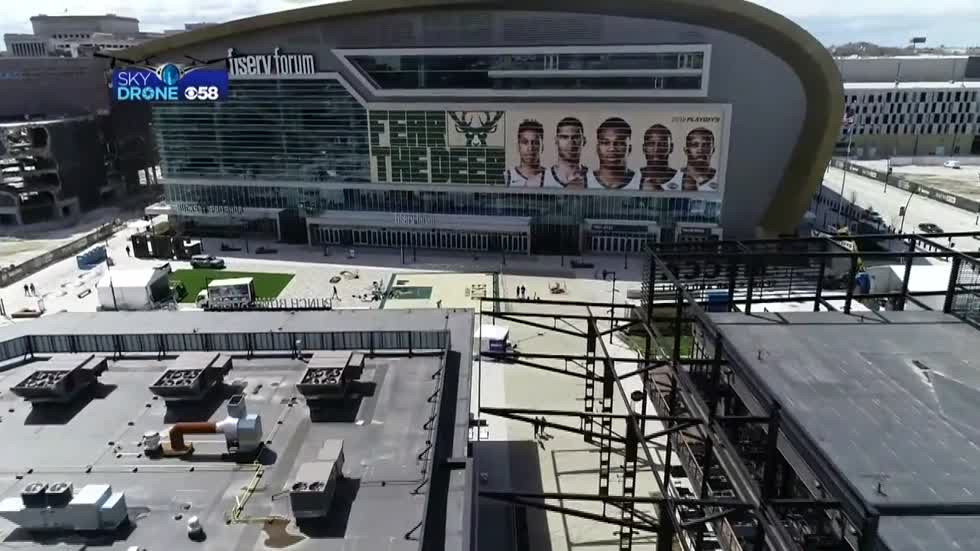 Bucks fans getting ready for Game 3 against the Celtics