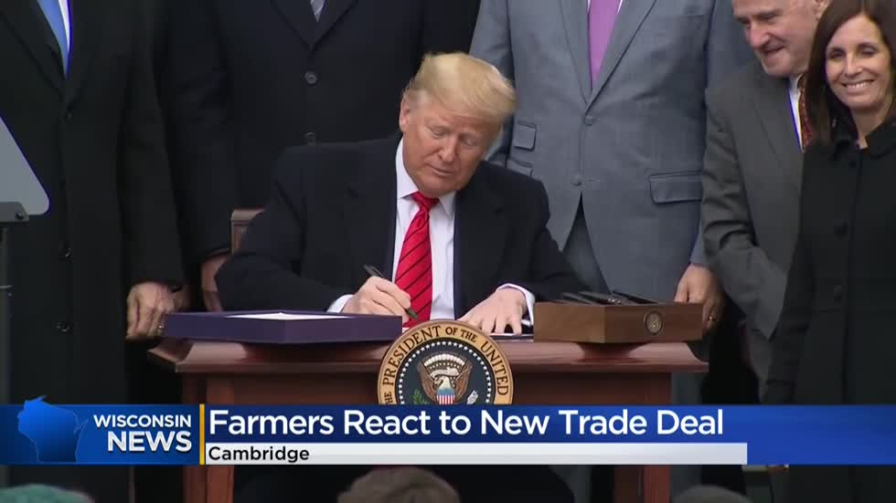 Wisconsin farmers react to USMCA signing