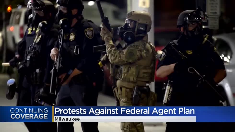 'Leave us alone:' Protesters react to idea of federal agents in Milwaukee, city commission deciding its role